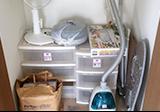 【愛知県尾張旭市】押入れの中の衣装ケースや掃除機、扇風機の回収