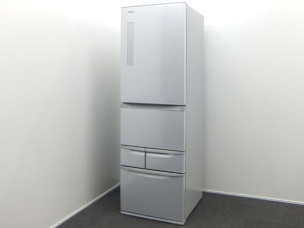 TOSHIBA 東芝 VEGETA 冷蔵庫 GR-G43G (SS) 426L 5ドア 14年製