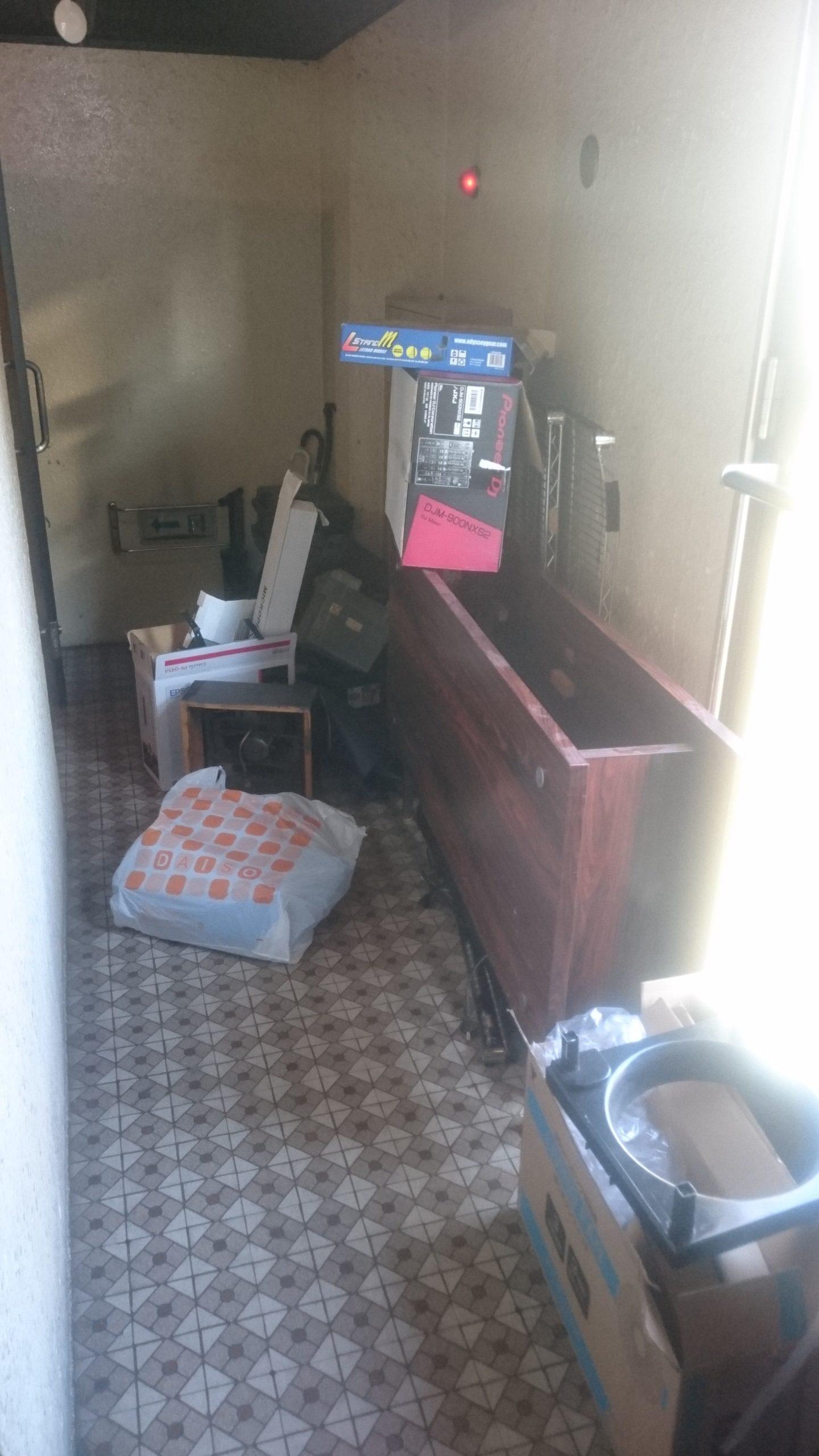 【愛知県名古屋市中区】ライブハウスで使わなくなった棚などの不用品回収