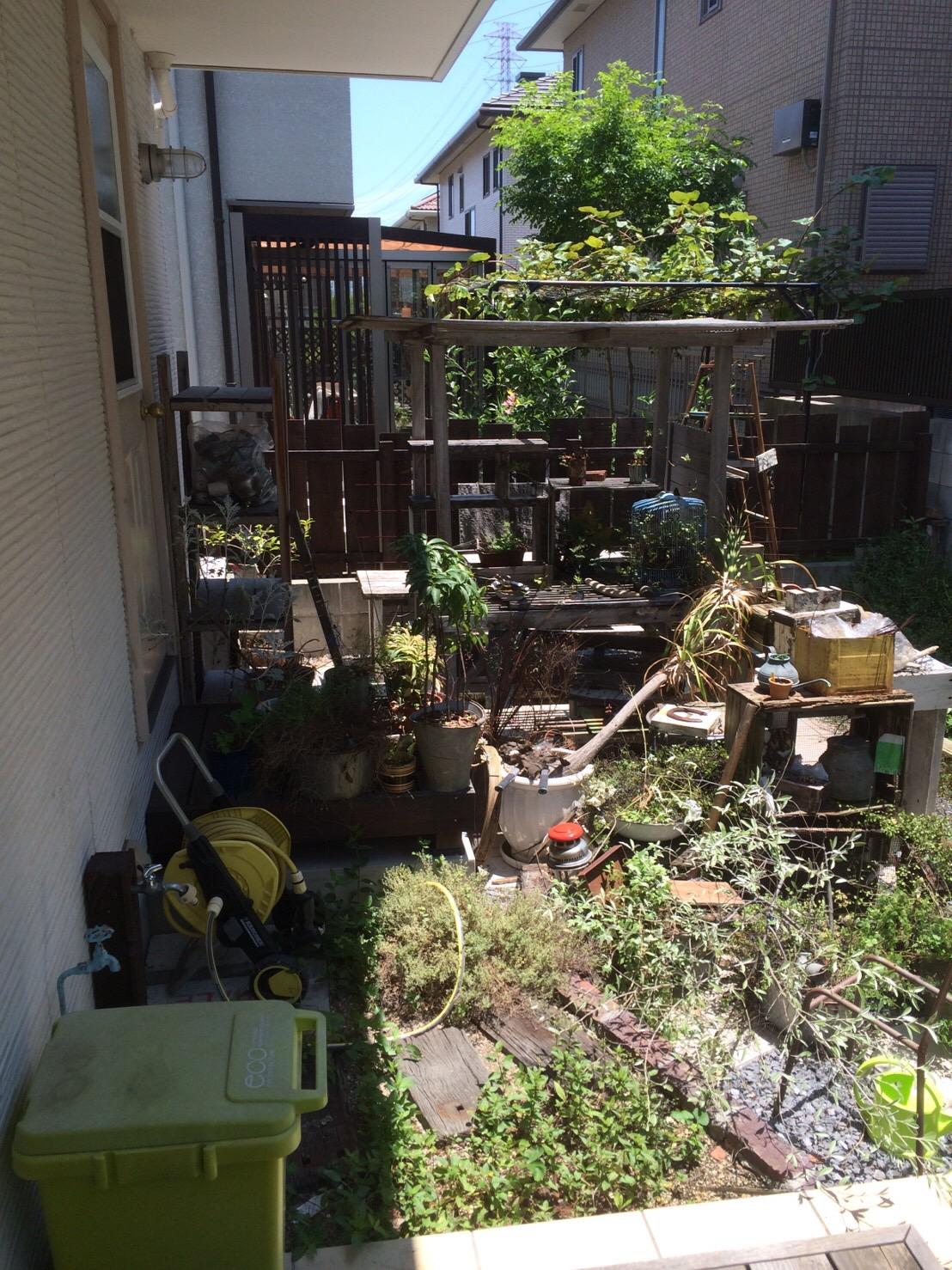 【愛知県名古屋市東区】ベランダにある植木やガーデニング用品の回収