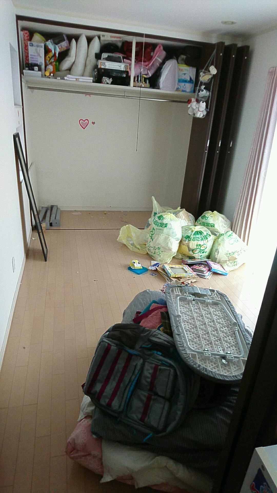 【愛知県日進市】古着や生活用品、玩具など引越しゴミの処分
