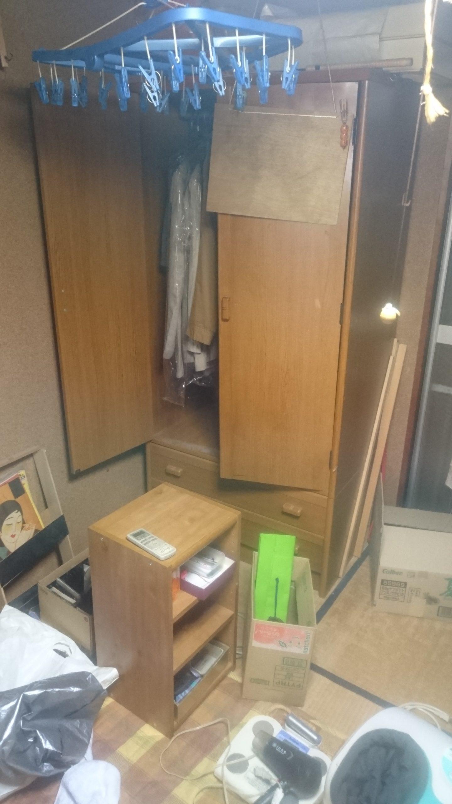 【愛知県名古屋市瑞穂区】タンスや書棚など家具や小物の不用品回収