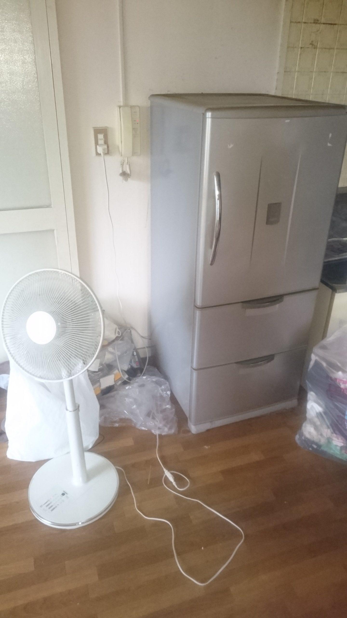 【愛知県名古屋市北区】冷蔵庫と扇風機、小物などの不用品回収