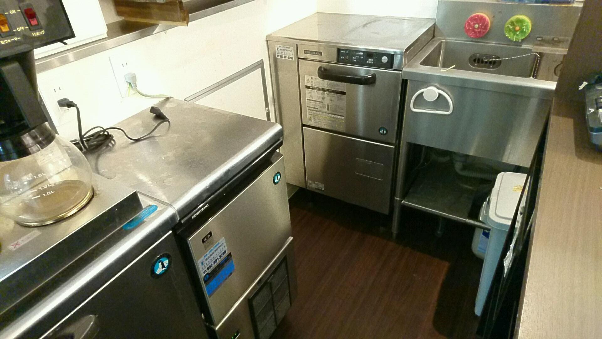 【愛知県名古屋市熱田区】業務用製氷機と食洗器の出張買取り