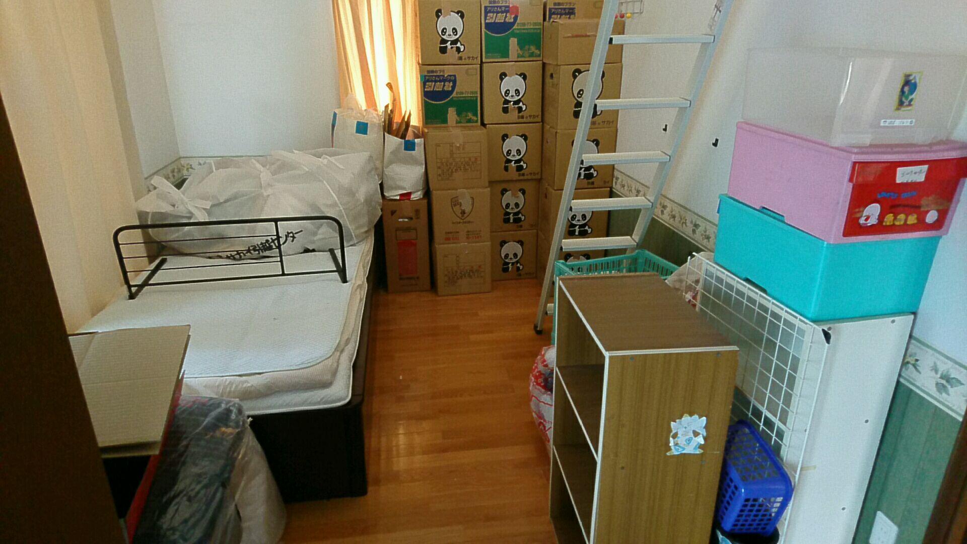 【愛知県名古屋市西区】段ボールやベッド、カラーボックスの回収