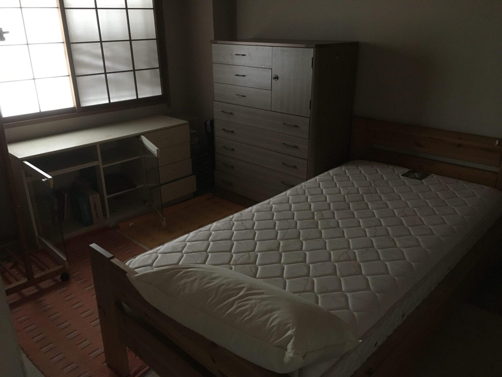 【愛知県名古屋市北区】シングルベッドやタンスなどの処分