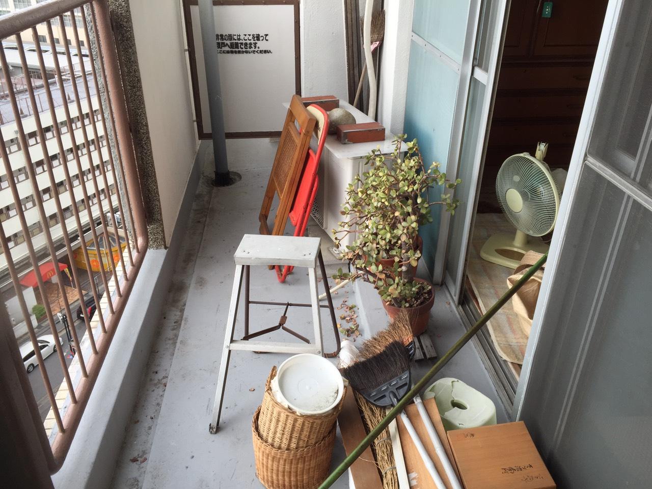 【愛知県名古屋市北区】ベランダの不用品回収とエアコンの撤去作業