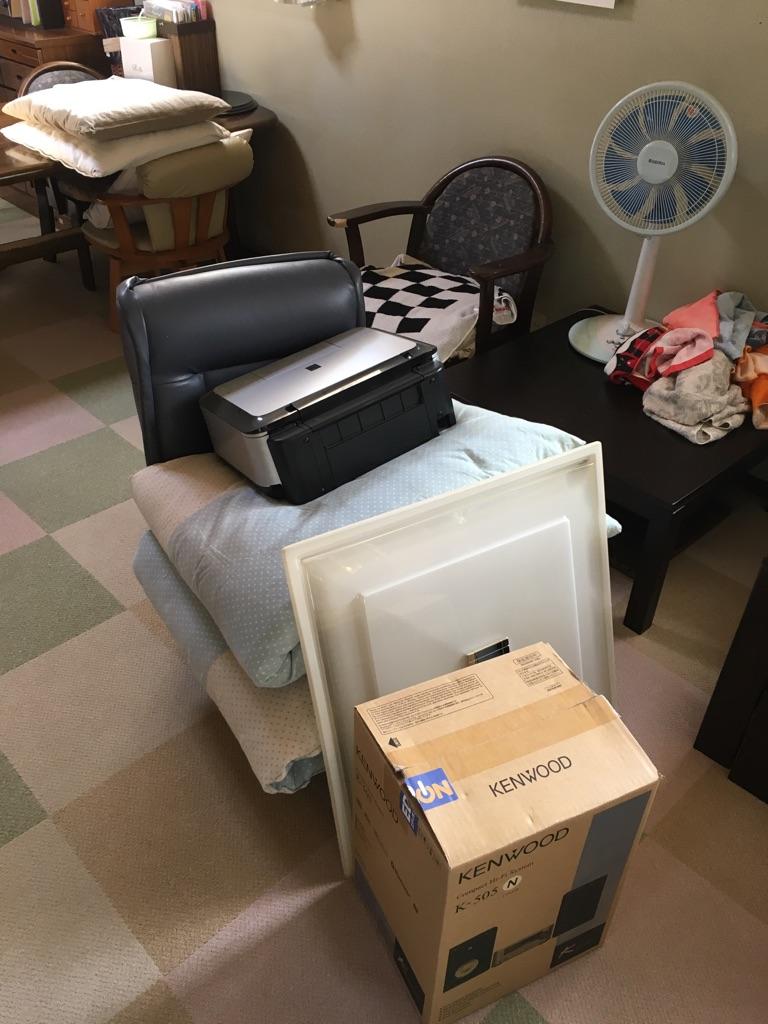【愛知県名古屋市守山区】座椅子・小家電の回収