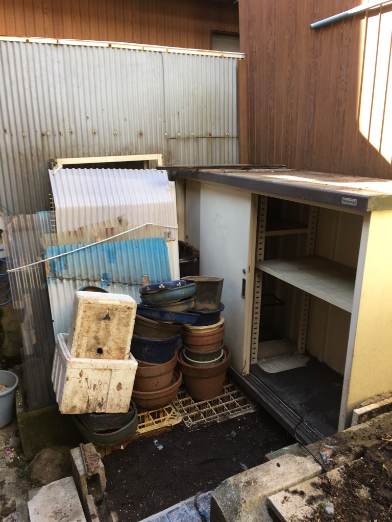 【愛知県名古屋市中区】引っ越し後の庭にある不用品回収