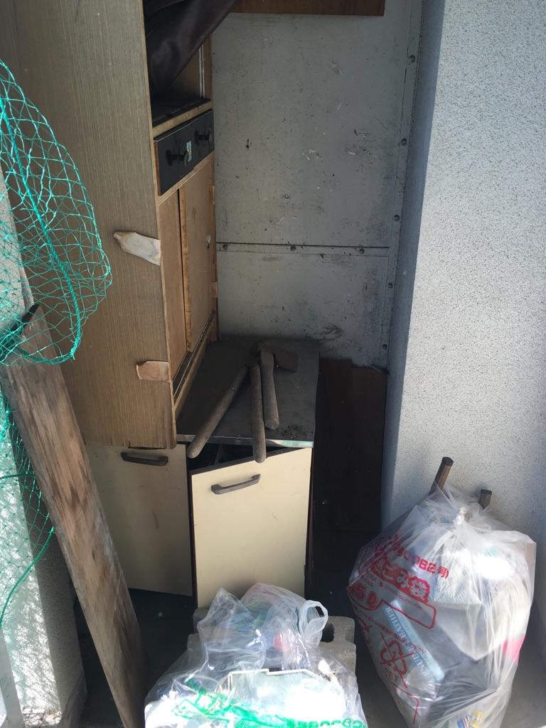【愛知県名古屋市東区】食器棚や生活不用品の出張回収