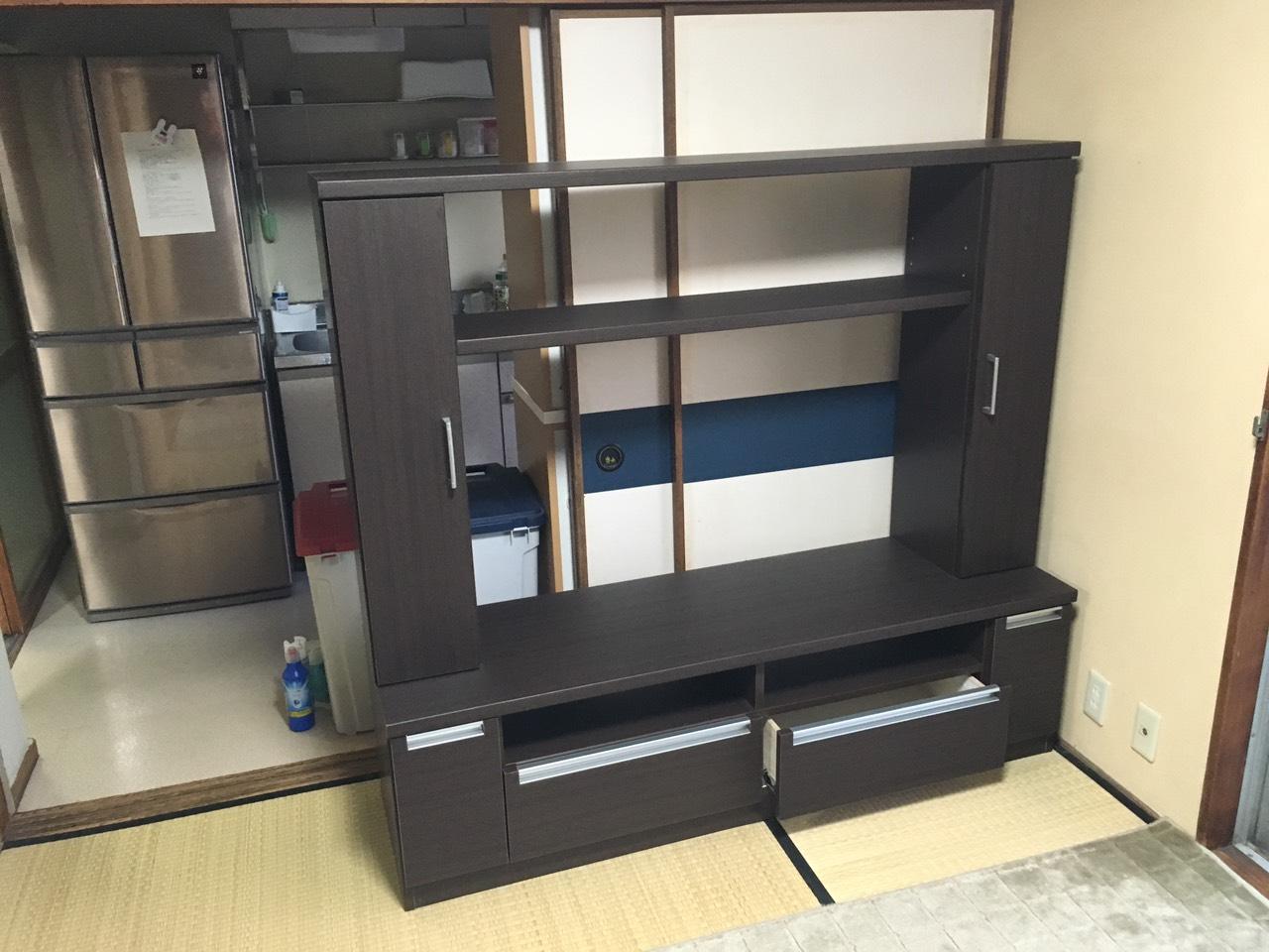 【愛知県名古屋市瑞穂区】組み立て式大型テレビボードの回収
